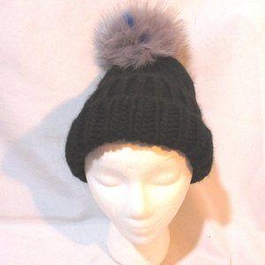 EUGENIA KIM WOOL ARCTIC FOX Knit HAT Cap